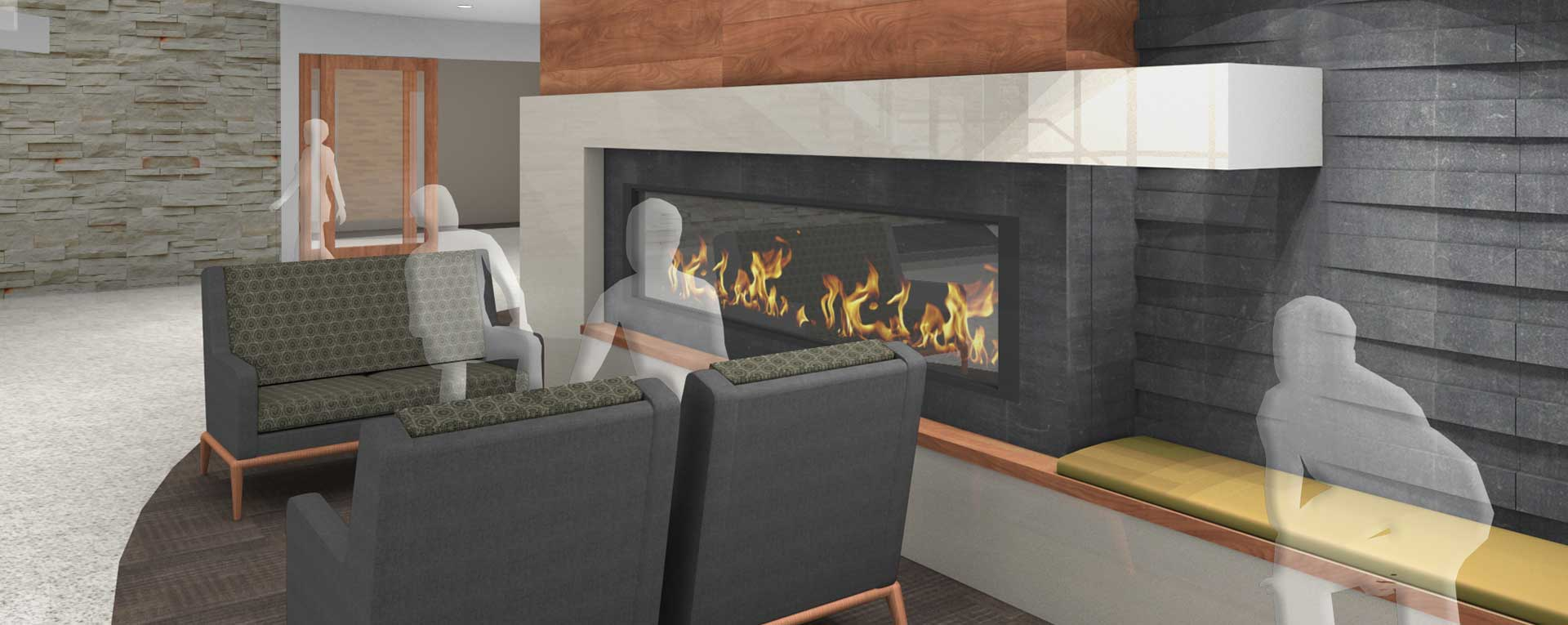 HealthEast Medical Center Fire Place